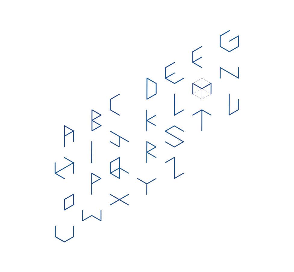 六角形=立方体から作られるアルファベット2013年