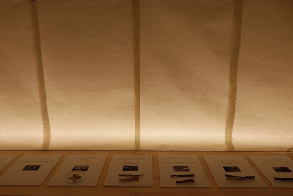 2紙漉き体験イベント、展示の様子